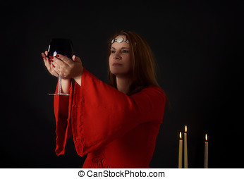 Pagan woman - Modern practitioner of wicca or witchcraft