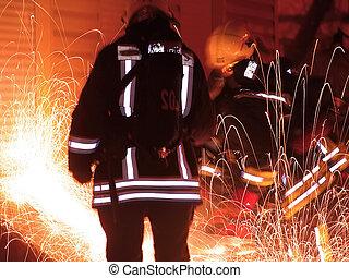 911 - rescuers team.