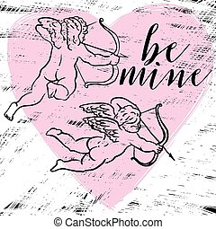 be mine angels.eps - Vector composition with a painted...