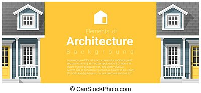 要素,  7, 家, 建築, 背景, 小さい