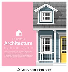 要素, 家, 小さい, 建築, 背景, 9