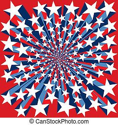 Bursting Stars Background - Red White and Blue Bursting...