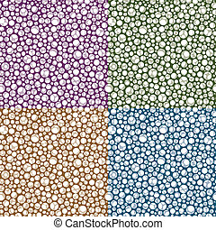 Repeating Circle Pattern Background in Four Color Choices