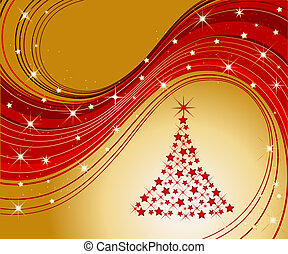 sparkling christmas tree - illustration of a sparkling...