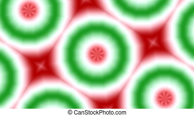 Chrsitmas Kaleidoscope HD Loop - Moving kaleidoscope pattern...