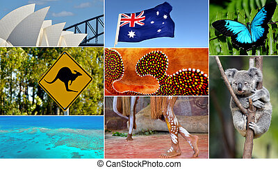Australian collage. Travel Australia