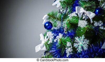 Studio shot of a Christmas tree