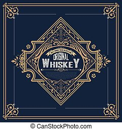 Vintage label for whiskey packing