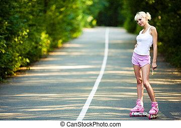 Roller skater girl