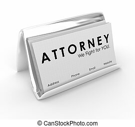 Attorney Lawyer Business Cards Hire Legal Help 3d...