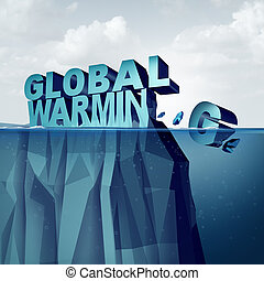 Global Warming - Global warming and arctic ice melting of...