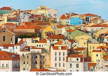 Beautiful Lisbon Old Town, Portugal - Lisabon Old Town...