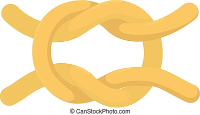 Knot icon, cartoon style - Knot icon. Cartoon illustration...
