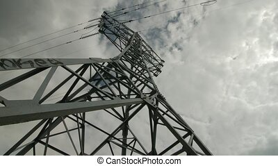 Electric support of high voltage power cables. Energy industry.