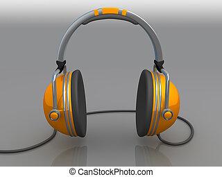 Headphones - Computer Generated 3D Image - Headphones .