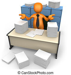 Paperwork - Computer Generated 3D Image - Paperwork