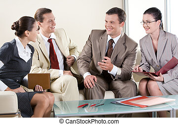 Business negotiations - Portrait of business partners...