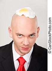 cabeza, tortilla de huevos