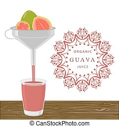 The theme guava - Abstract vector illustration logo for...