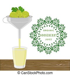 The theme gooseberry - Abstract vector illustration logo for...