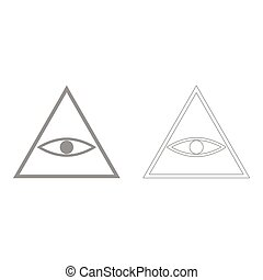 All seeing eye symbol  the grey set icon .