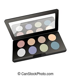 Palette with powder - Vector illustration of palette with...