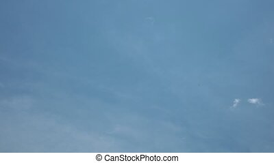 Time Lapse Sky - Cloudy blue morning summer sky time lapse...