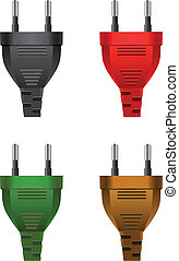 electric plugs - Vector Set of classic electric plugs