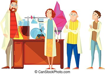 Students In Laboratory Composition - Composition of teacher...