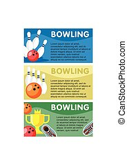 Colorful Bowling Horizontal Banners - Colorful bowling...