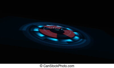 Technology background. Sci-fi futuristic Spaceship. HUD...