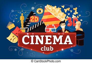 Cinema Theatre Club Background - Cinema movie background...