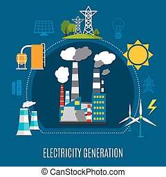 Electricity Generation Flat Composition - Electricity...