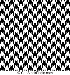 Black houndstooth pattern vector. Classical checkered textile design.