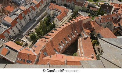 VILNIUS, LITHUANIA. Aerial view at Vilnius., old town.