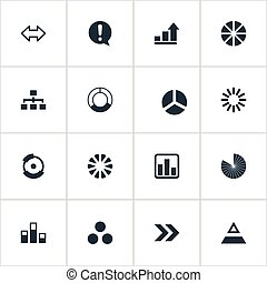 Vector Illustration Set Of Simple Icons. Elements Circuit,...