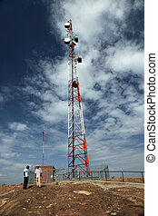 Cellphone Signal Tower - Abela Rock, Uganda, Africa - Abela...