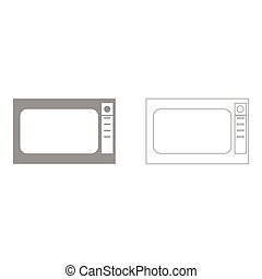 Microwave oven  set  icon .