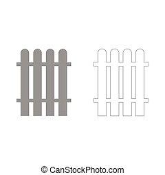 Fence  set  icon .