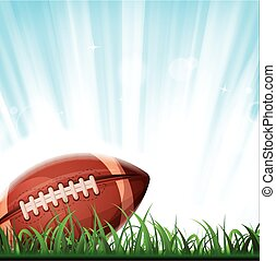 American Football Background - Illustration of an american...