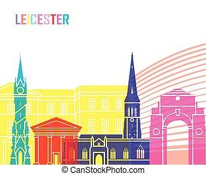 Leicester skyline pop in editable vector file