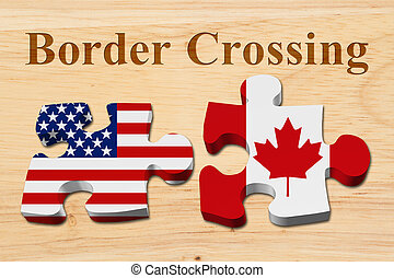 Americans crossing the Canadian border, Two puzzle pieces...