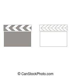 Cinema clapper  set  icon .