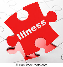 Healthcare concept: Illness on puzzle background