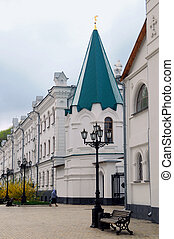 exterior of the Orthodox Cathedral on the background of blue...