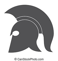 Spartan Helmet Vector Icon