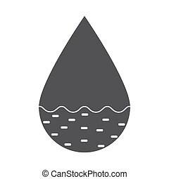 Hydrology Vector Icon - Hydrology concept with drop, vector...
