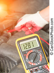 Checking car battery voltage