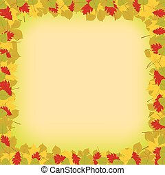 Vector autumn leaves background. Colorful background with leaves for your autumn design.