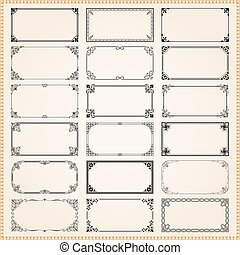 Decorative frames and borders rectangle 2x1 proportions set 1